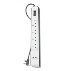 Belkin 4 Way Surge + 2.4A USB Port